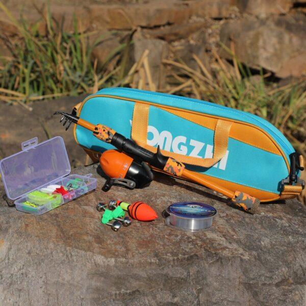 Kids Starter 1.5m Fishing combo set tackle kit 5 colours