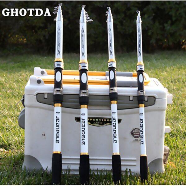 GHOTDA Hard FRP Telescopic Super Hard Telescopic Fishing Rod  2.1M 2.4M 2.7M 3.0M 3.6M